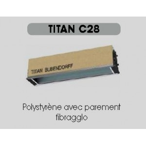 COFFRE TITAN INTÉGRÉ C28 Largeur jusqu'à 5 mètres-Poids: 3,3 kg/ml