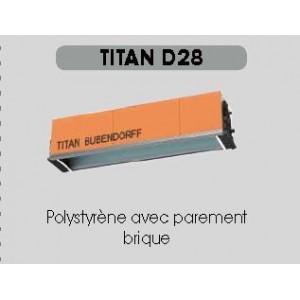 COFFRE TITAN BRIQUE INTEGRE G28 jusqu'à 5 mètres ( 6.9 kg/ml).